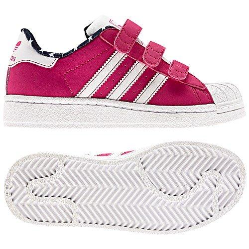adidas superstar di c i bambini le scarpe rosa / running bianco -