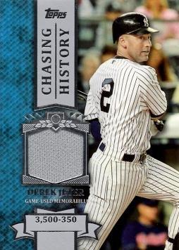 2013 Topps Chasing History Relics  CHR-DJ Derek Jeter Game Worn Jersey  Baseball Card e2ba1d4a12e