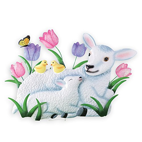 Collections Etc Easter Lamb Spring Outdoor Garden Stake Decoration by Collections Etc