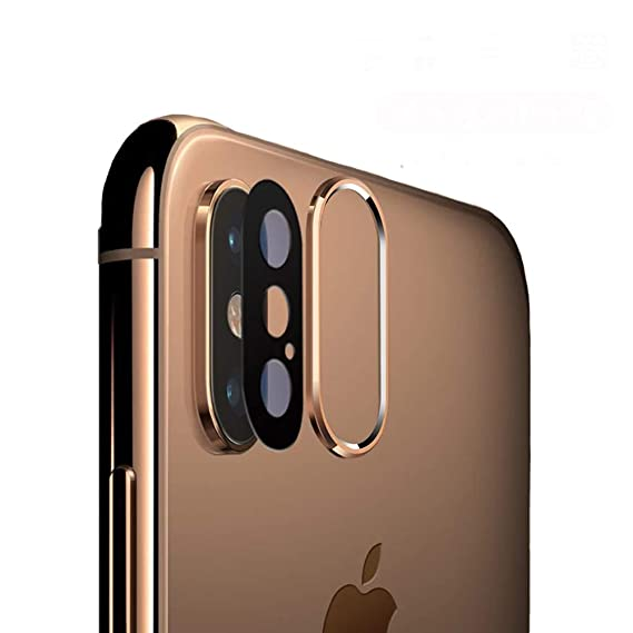 check out c10d9 e4136 Sakula Camera Lens Protector Plating Aluminum Camera Case Cover Ring with  Tempered Glass Film Designed for iPhone Xs/XS Max Gold
