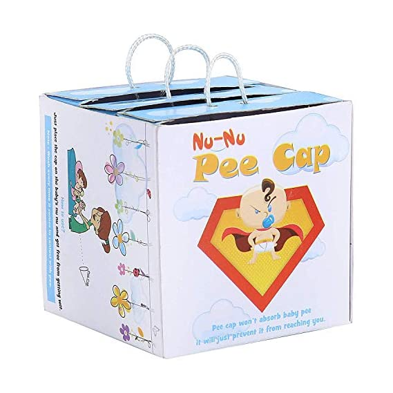 AHC Nu Nu Pee Cap for Massage and Diaper Changing time (Boy's only, 2 Caps)