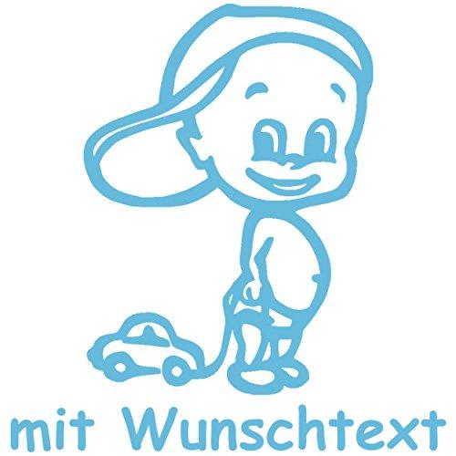 Babyaufkleber mit Wunschtext - Motiv 161 (16 cm) - 20 Farben und 11 Schriftarten wählbar MY-BABY-SHOP