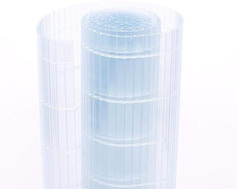21 Tailles Personnalisable BAIYING B/âche Transparente Balcon /Épaississant Transparent Tissu Imperm/éable Film Isolant V/ég/étal Boucle en M/étal Poly/éthyl/ène Color : White Transparent, Size : 1x1m