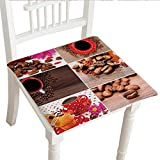 """Best Garden-Outdoor Coffee Beans - Classic Decorative Chair pad (30""""x30""""x2pcs, Seat Cushions Garden Review"""