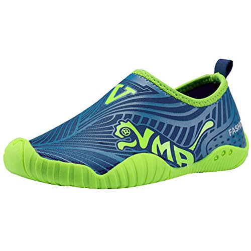 CIOR Kids Water Shoes Quick-Dry Boys and Girls Slip-On Aqua Beach Sneakers (Toddler/Little Kid/Big Kid),VY01,Blue,33 0