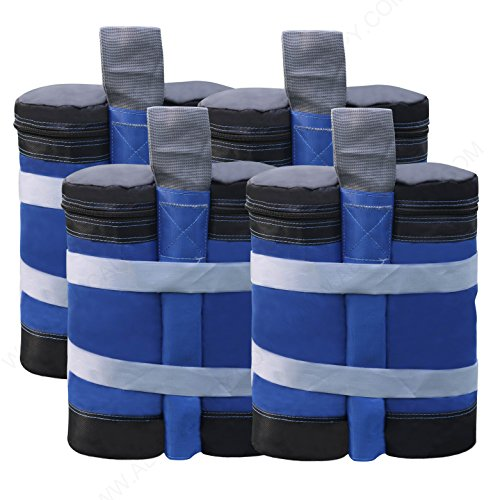 ABCCANOPY Super Heavy Duty New Premium Instant Shelters Weight Bags (55 lbs/Bag) - Set of 4 - Blue/Black