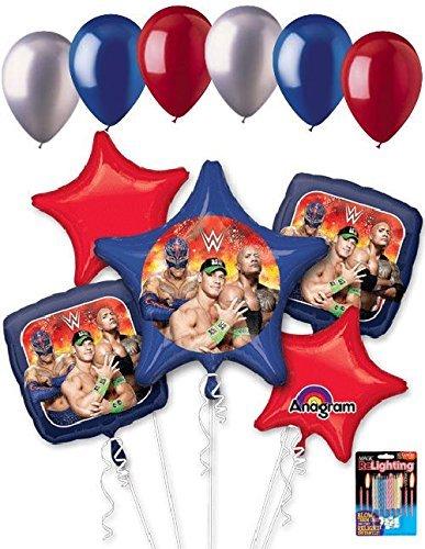 11pc WWE John Cena The Rock Stars Balloon Bouquet Party Decoration Wrestling Boy