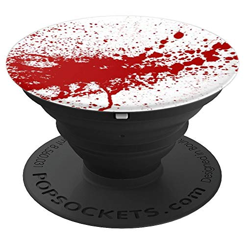 SCARY BLOOD-RED SPLATTER on WHITE background! Scare them! - PopSockets Grip and Stand for Phones and Tablets