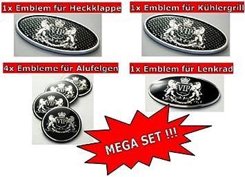 Emblema 3d VIP V.I.P. Style para Hyundai Genesis para llantas + Enfriador Barbacoa + volante + portón cromo Tuning Super Set: Amazon.es: Coche y moto