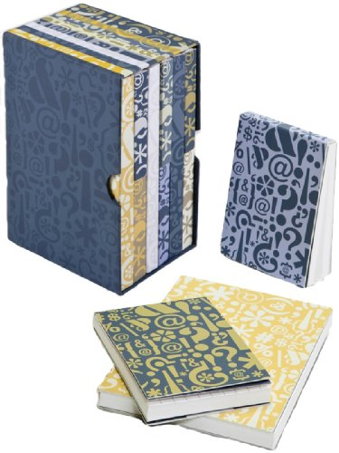 C.R. Gibson Iota Slipcover Journals, Writer's Block Tonals, Set of 9 (Tonal Block)
