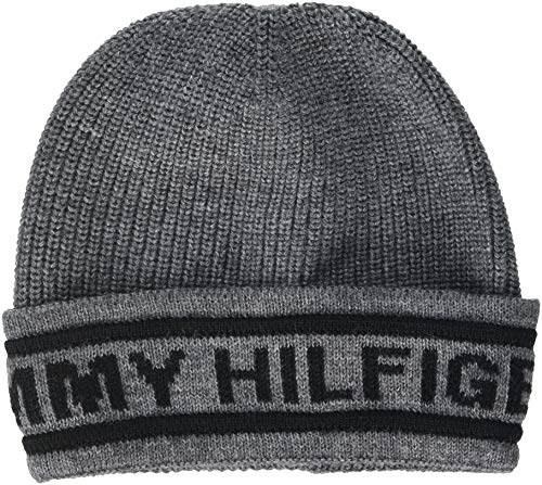 Gris Beanie Heather Selvedge Punto Knit Light Hilfiger 050 de Grey Hombre Tommy para Gorro xzw6pgq