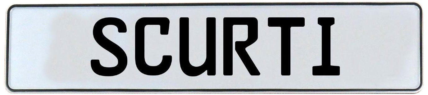 Vintage Parts 750400 White Stamped Aluminum Street Sign Mancave Wall Art (Scurti)