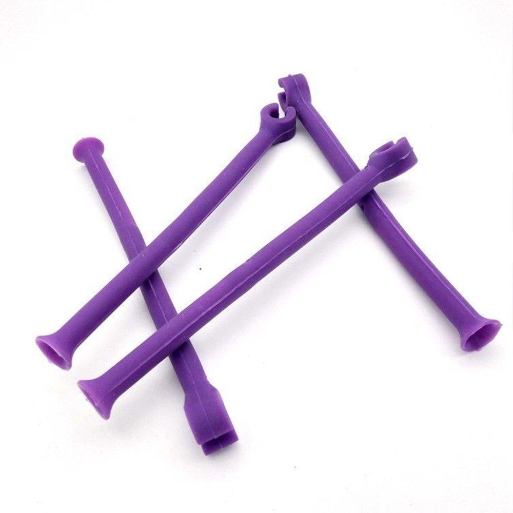Rosepoem 4pcs/sets Red wine holder Dishwasher Set Flexible Purple Silicone Tool Household
