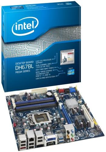 (Intel Desktop Board Media Series LGA 1155 DDR 1333 Micro-ATX Form Factor - BOXDH67BLB3)