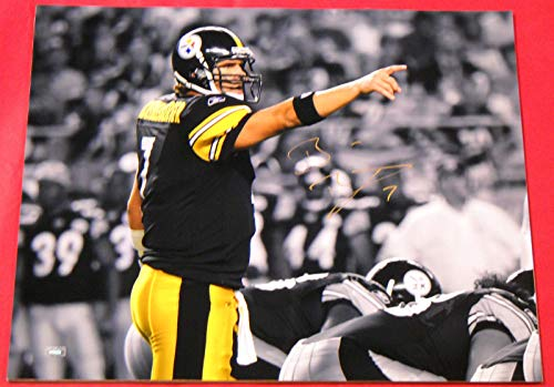 - BEN ROETHLISBERGER AUTOGRAPHED PITTSBURGH STEELERS 16X20 PHOTO MM B POINTING