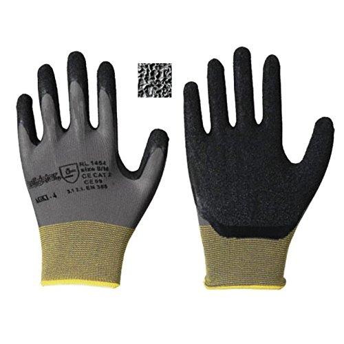 Leipold Paar Latex-Feinstrick-Handschuhe grau, Gr. 8, 120 Stück