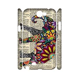 Elephant Personalized 3D Phone Case for Samsung Galaxy Note 2 N7100 at DLLPhoneCase ( DLL465271 )