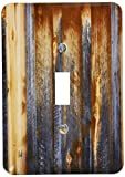 3dRose lsp_124675_1 Brown Barn Wood Look Single Toggle Switch