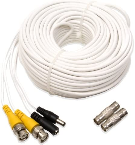 Extend Your Original Camera Cable Q-See QS100B Prevent Video Loss /& Interference UL Rated E475392 Video /& Power Cable 100 ft BNC Male Cable with 2 Female Connectors