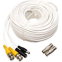 Q-See QS100B | UL Rated E475392 Video & Power Cable | Extend Your Original Camera Cable | Prevent Video Loss & Interference | 100 ft BNC Male Cable with 2 Female Connectors