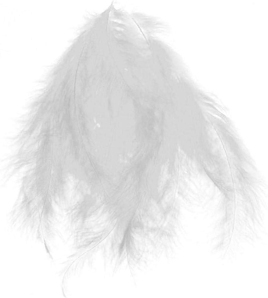 CULER 100pcs Fluffy Marabou Plumes de soir/ée de Mariage Garniture Parage D/écor Bricolage 8-15 CM Blanc