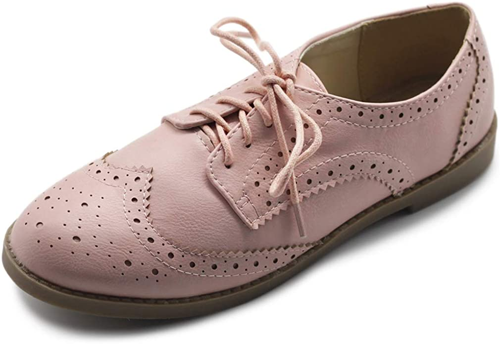 Flats Shoes Wingtip Lace Up Oxfords