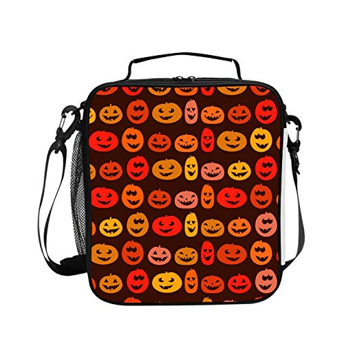 Red Halloween Face Insulated Picnic Bag Outdoor Indoor