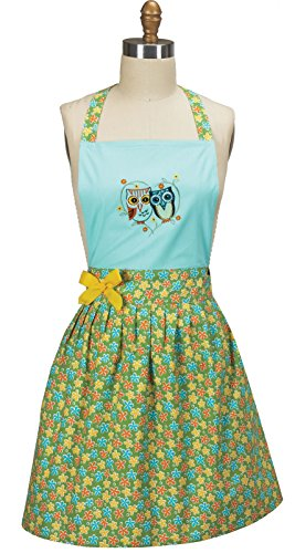 (Kay Dee Designs Life's a Hoot Owl Embroidered Girlie Apron)