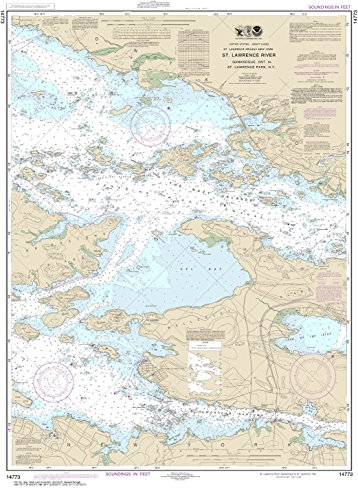 NOAA Chart 14773 Gananoque, Ont., to St. Lawrence Park. N.Y.: 38.84