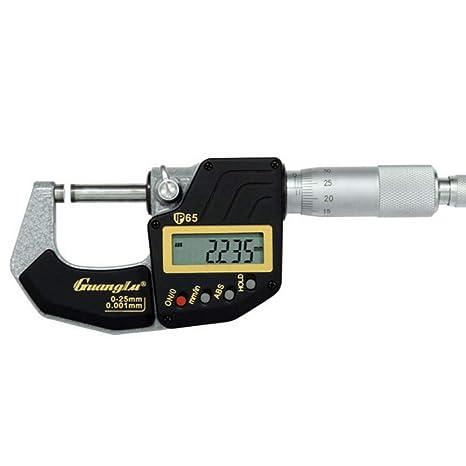 Amazon.com: Micrómetro de pantalla digital impermeable IP65 ...