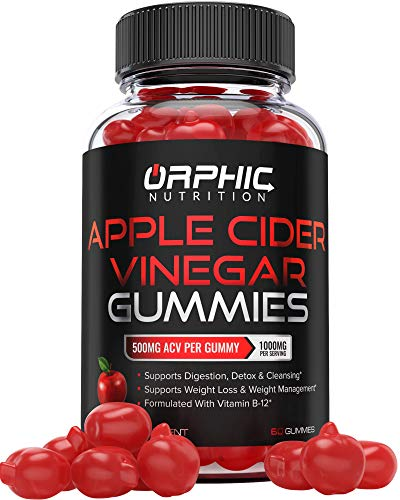 Apple Cider Vinegar Gummies – 1000mg – Formulated for Weight Loss, Energy Boost & Gut Health – Supports Digestion, Detox…