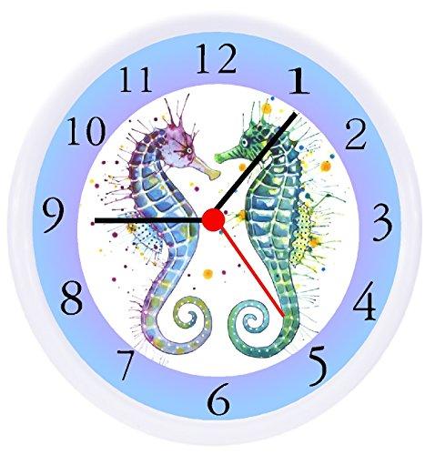 (Rusch Inc. Seahorse Ocean Wall Decor Clock)