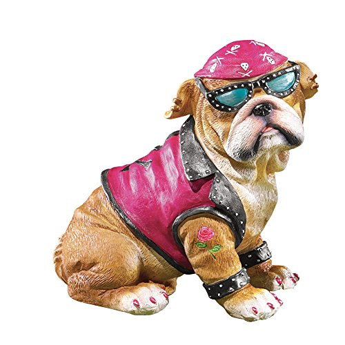 Collections Etc Biker Bulldogs Figurine
