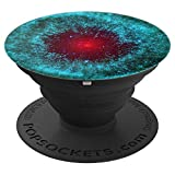 Red Eye Abstract Nebula Asteroid Astronomy Turquoise - PopSockets Grip and Stand for Phones and Tablets