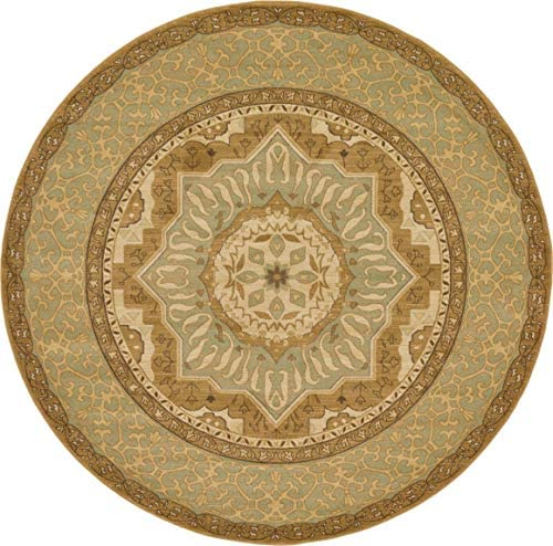 Unique Loom Palace Collection Traditoinal Geometric Classic Cream Round Rug 8 0 x 8 0