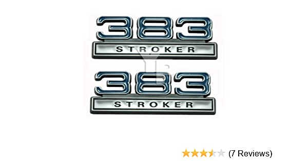 Amazon chrome blue black 383 stroker fender emblems amazon chrome blue black 383 stroker fender emblems universal fitment automotive publicscrutiny Image collections