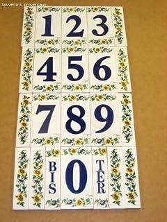2 Ma/ße: H/öhe 15 cm Hausnummern aus Keramik Keramikd/übel Nr Hausnummern mit Zitronen Gesamtbreite 17,6 cm
