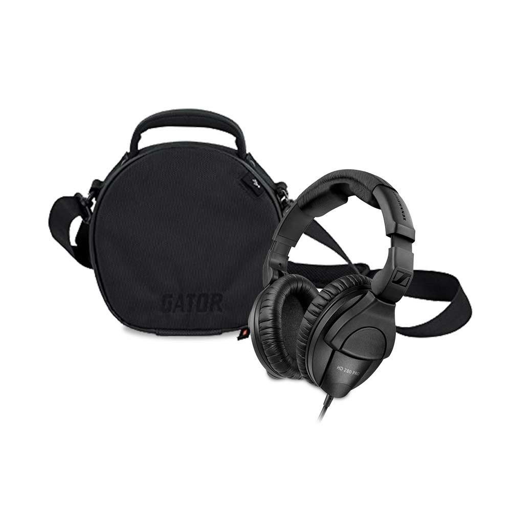 Sennheiser HD280PRO Headphone (new model) with Gator Cases G-Club Series G-CLUB-HEADPHONE Carry Case for DJ Style Headphones/Accessories