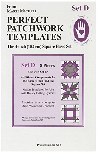 Set Complements - Perfect Patchwork Template Set D, Bonus Complement Set, Package of Eight