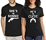 SuperPraise Matching Couple T Shirt Bonnie & Clyde Movie His & Her Outfit