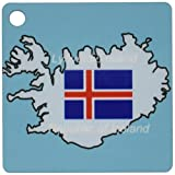3dRose The Map and Flag of Iceland with Republic of Iceland Printed in English and Icelandic Key Chains, Set of 2 (kc_39210_1)