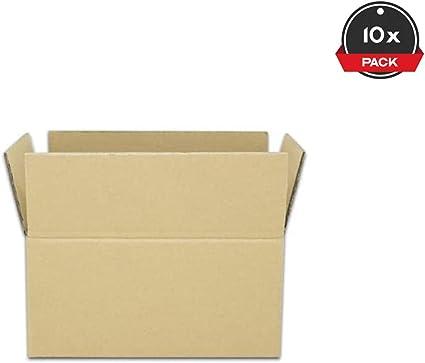 Cajeando | Pack de 10 Cajas de Cartón de Canal Doble | Tamaño 26,5 ...