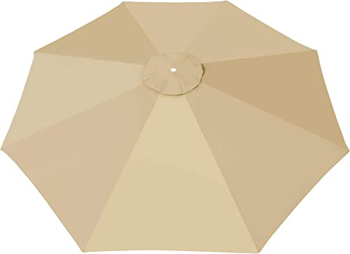 BenefitUSA 13ft 8 Ribs Umbrella Canopy Patio Umbrella Replacement Top Beige