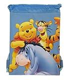Blue Winnie the Pooh Drawstring Bag – Kids Drawstring Backpack For Sale