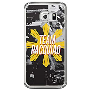 Loud Universe Samsung Galaxy S6 Edge Team Pacquiao Printed Transparent Edge Case - Multi Color