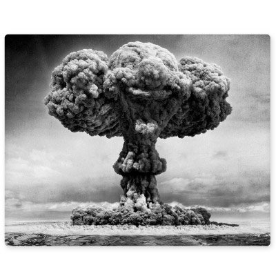 Atomic Bomb Explosion Nuclear Mushroom Cloud Vinyl Sticker - Car Window Bumper Laptop - SELECT SIZE (Nuclear Bomb Decal)