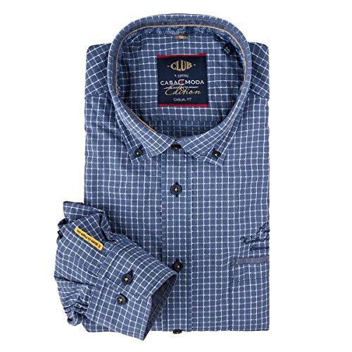 Camicia manica lunga blu quadri Casa Moda XXL