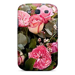 New Amanda Diary Super Strong Flower Bouquet Tpu Case Cover For Galaxy S3