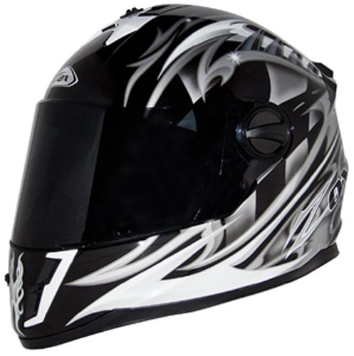Helmet Equinox - Zox Savo G2 Junior Motorcycle Helmet (Equinox Silver, Small)