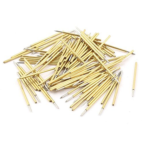 DealMux 100Pcs P50F 0.5mm Dia Spear Tip PCB Borad Federkontaktstifte Pins 16mm